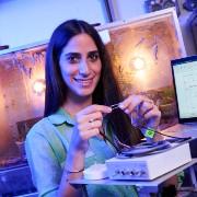 Robot Hears through Locust Ear