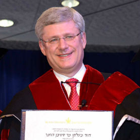 Canadian Prime Minister Stephen Harper Lauded at TAU