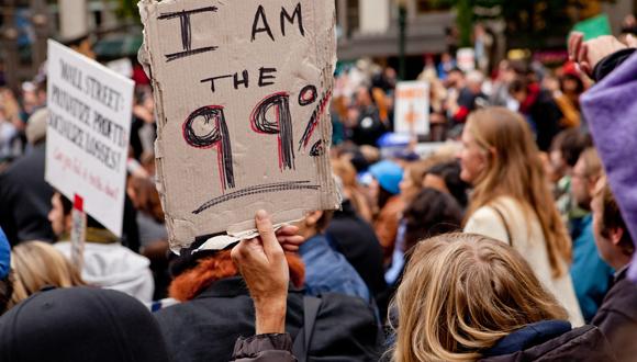 A protest in Portland, Oregon