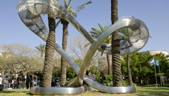 """Kesher"" sculpture by Ron Arad"