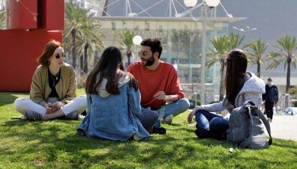 Students on campus. Photo: Moshe Bedarshi.