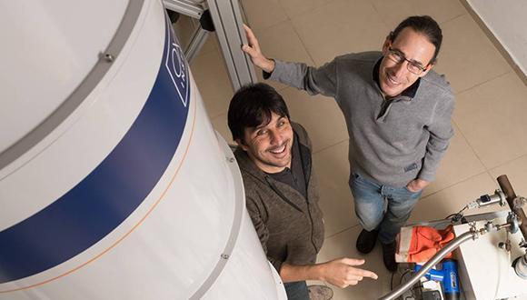 Prof. Gil Markovitz and Prof. Yoram Dagan (Photo: Yoram Reshef)