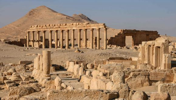 The ruins of Palmyra in Syria