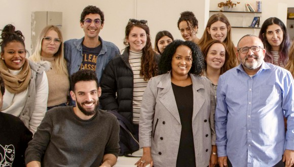 Human Rights Clinic students and attorneys, Hicham Chabaita and Debby Tal Sadeh.